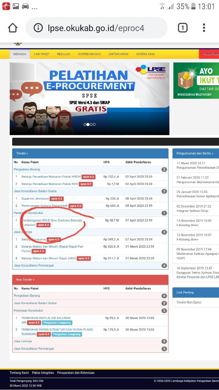 Simpebaja Sistem Informasi Manajemen Pengadaan Barang Dan Jasa Kabupaten Ogan Komering Ulu
